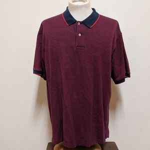 Daniel cremieux red black polo men xl